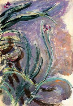 Claude Monet. Irises (1917).