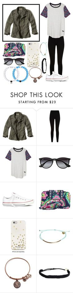 """""""Getting this jacket today! What do you think?"""" by lindsay-mccartney ❤ liked on Polyvore featuring Hollister Co., Givenchy, Victoria's Secret, Ray-Ban, Converse, Vera Bradley, Kate Spade, Pura Vida and Alex and Ani"""