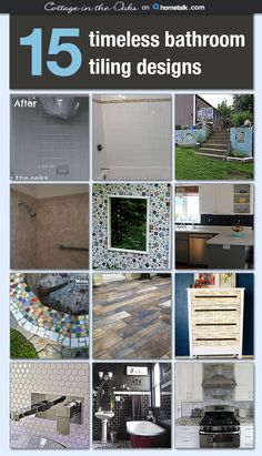 Here's a collection of wonderful tile projects for your home and garden. One suggestions is mosaic around your tub--very cool!