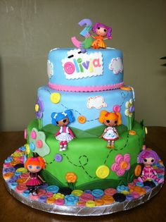 Lalaloopsy Cake love love love!  Riley's 4th Birthday