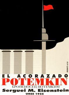 819 Cuban Movie Poster Powerful Graphic Design Acorazado Potemkin Russian Film