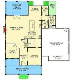Plan 500003VV: 4 Bed Farmhouse Plan With Rocking Chair Porch