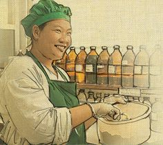 We love all things hand-drawn and natural and we especially love this image of one of our Mixologists!    Tags: Fresh, handmade, natural, Aromatherapy, skincare, spa products, Singapore, Phuket, Eco Friendly, Green