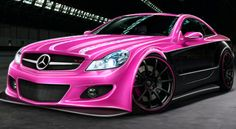 Pink Mercedes Benz... Now that's what I call a car!!! awesome!!!