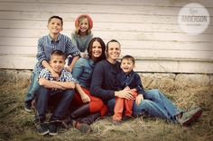 Kate Anderson, family portraits, photos of group of 6, family love, fun, children, parents