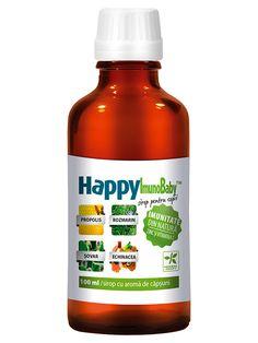 Imunitate copii HappyImunoBaby - Recomandat pentru mentinerea rezistentei naturale a organismului. Mentine in stare optima de functionare sistemul respirator si digestiv.