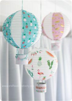 Fler luftballonger av rislampor - <br><i>More hot air balloon lanterns</i>