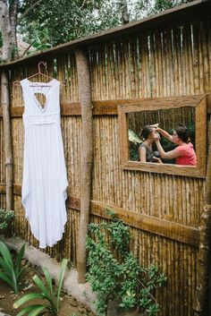 Getting ready in the bridal hut #destinationwedding #prep  Brad & Nicole's wedding photos shot by Hitch and Sparrow Wedding Co. in Laguna de Apollo, Nicaragua