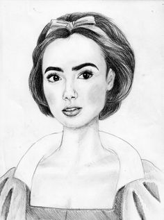 Lily Collins as Snow White ~by Anna Helena
