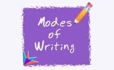 Free printables about the modes of writing (narrative, expository, persuasive)