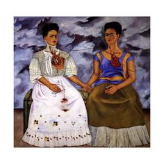 Frida Kahlo - The Two Fridas - 1939 ❤ liked on Polyvore featuring frida