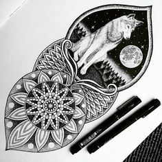 Most recent tattoo commission finished moons wolves and mandalas, right up my street ✌ . . . . #art #drawing #illustration #illustrate #doodle #design #ink #mandala #wolf #landscape #blxckmandalas #mandala_universe #zentangle #mandalala #arts_gallery #art_spotlight #instaart #blackandwhite #tattooideas #mandala_sharing #mandalaart #sketchdaily #arts_help #blackworknow #beautiful_mandalas #dotwork #instafineliner #heymandalas #spaceart #instaexploringart
