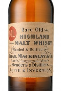 Sir Ernest Shakleton's Rare Old Highland Malt Whisky – blended and bottlet by Chas. Mackinlay & Co.. Specially prepared for the British Antarctic Expedition 1907