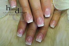 Fantastic French UV Gel Manicure Nails with UV Gel