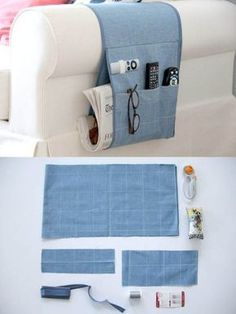 25 stunning ideas for reusing your old jeans. Upcycle old denim jeans into bags, wall art, gifts and more with links to step by step tutorials. Sewing Hacks, Sewing Tutorials, Sewing Projects, Upcycling Projects, Denim Wallpaper, Remote Holder, Denim Crafts, Ideias Diy, Recycle Jeans
