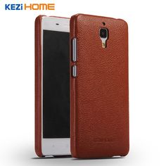 Fashion Genuine Leather Back Shell Cover Case For Xiaomi mi4
