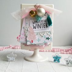 Im super excited to share a small peek inside the adventcalendar i made for @mrsevalley!! I mainly used @itspaperdear diecuts, journalingcards and paper from the gorgeous winterwonderland collection! Cant wait that she will get it to share more #adventcalendar #winterwonderland #christmas #christmascraft #pastelchristmas #happymail #flipbook #pastels #mrsevallyadventswap #diyblogger_de @diybloggerde