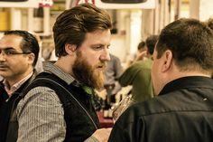 Sommeliers unter sich auf unserer Hausmesse im Nürnberger Ofenwerk: Billy Wagner (Nobelhart und Schmutzig/Berlin) und Ivan Jakir (Essigbrätlein/Nürnberg).