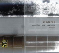 2005 Bruno Maderna: Quadrivium / Aura / Biogramma [DG 4775383] 20/21 echo series #albumcover