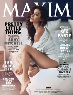 Shay Mitchell looks positively seductive when she showed off some skin, in the cover of the February issue of Maxim magazine. The popular actress of ABC Family series Pretty Little Liars posed for … Emily Fields, Shay Mitchell, Pretty Little Liars, Maxim Magazine Covers, Lisalla Montenegro, Maxim Cover, Magazin Design, Male Magazine, Magazine Covers