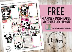 FREE Panda Planner Printable BY* Victoria Thatcher
