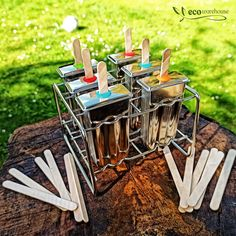 Our stainless steel popsicle and ice cream moulds have been popular on social media lately ~ we have spotted lots of yummy ice block recipes 🤤 We are aware that this is an investment but please keep in mind, there is no waste.....the moulds are very easy to clean, the wooden stick goes into your compost after being used or you might feel like washing and reusing it👍 Popsicle Molds, Popsicle Sticks, Liquid Waste, Silicone Baking Sheet, Make Your Own, Make It Yourself, Amazing Greens, Ice Blocks, No Waste