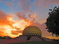 Matrimandir in Auroville.