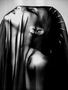 nothingpersonaluk:  studded veil… edited /np Tush -Fleur Du...
