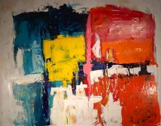 Abstract painting by W Joe Adams 48X60. SOLD