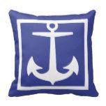 PixDezines anchor/diy background/nautical Pillow