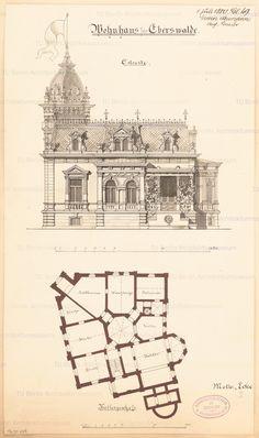 Titel Wohnhaus in Eberswalde. Monatskonkurrenz Juli 1880 | Neumann, Erwin Wohnhaus in Eberswalde. Monatskonkurrenz Juli 1880 | Neumann, Erwin
