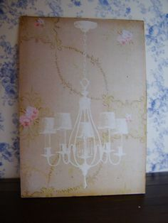 dollhouse miniature shabby chic art... goodness this is addicting