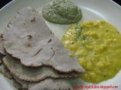 My Kitchen: Pithla Bhakri and Chutney