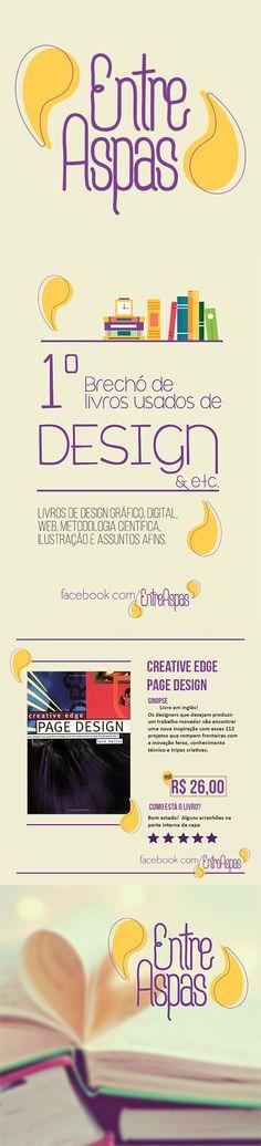 Projeto Entre Aspas #brecho #books #design