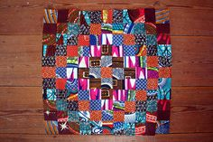 African Fabrics Patchwork by Rosa Pomar
