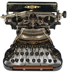 The Commercial Visible 6 Typewriter from the Commercial Visible Typewriter Company of New York  1898 - serial no.24529