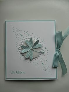 """Jenny's Papierwelt: ~ Karten - CD - Verpackung """"Zum Abschied viel Glück"""" ~"""