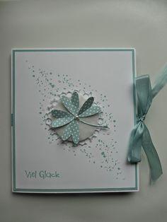 """Jenny's Papierwelt: ~ Karten - CD - Verpackung """"Zum Abschied viel Glück"""" ~(centre de la fleur fait avec des coeurs...à: http://jennys-papierwelt.blogspot.de/2014/04/karten-cd-verpackung-zum-abschied-viel.html"""