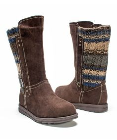 Look at this #zulilyfind! Dark Brown Stacy Boot - Women by MUK LUKS #zulilyfinds