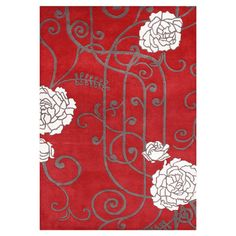 You should see this Rosette Red Rug on Daily Sales!