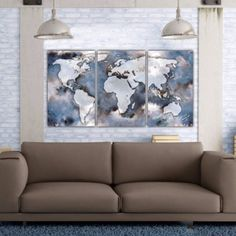 Large World Map Art on Canvas                                                                                                                                                                                 More