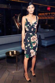 Giovanna Battaglia in Dolce & Gabbana #streetstyle
