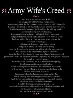 ARMY WIFE TATTOOS | ARMY WIFE CREED Pictures, Images and Photos