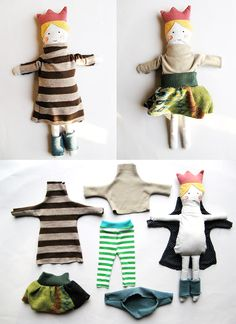 cute dress up princess doll....easy to DIY the clothes