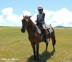 Elizabeth & Bingo chillin'..check out that smile Horseback riding in St.Lucia