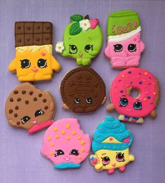 Shopkins Cookies Check out my page for more info, pics & giveaways! www.facebook.com/busybeecakery www.busybeecakery.com