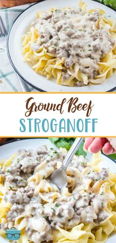 This is the best Ground Beef Stroganoff. It's a flavor-filled creamy hamburger gravy that is best served over egg noodles. Budget friendly, family friendly!