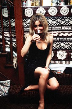 Sharon Tate at a party in London, 1966