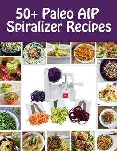 50+ Paleo AIP Spiralizer Recipes | Phoenix Helix