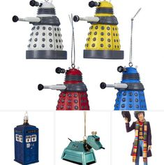 I mentioned the Tardis in my top 25 retro decorations round-up. But that was just one of the Doctor Who Christmas decorations by Kurt Adler. Doctor Who Christmas, Tardis, Sci Fi, Christmas Decorations, Geek Stuff, Retro, Science Fiction, Christmas Decor, Rustic